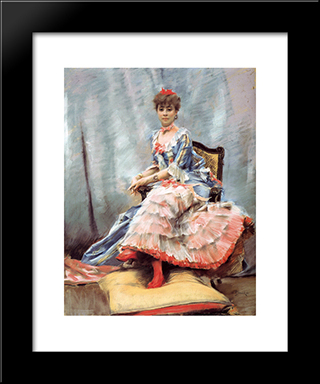 Portrait Of Laure Hayman: Modern Black Framed Art Print by Julius LeBlanc Stewart