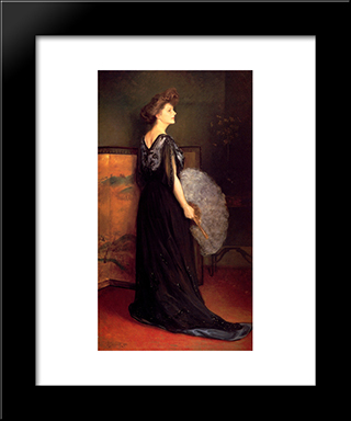Portrait Of Mrs Francis Stanton Blake: Modern Black Framed Art Print by Julius LeBlanc Stewart