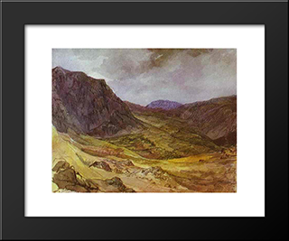 Delphi Valley: Modern Black Framed Art Print by Karl Bryullov