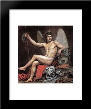 Genius Of Art: Modern Black Framed Art Print by Karl Bryullov