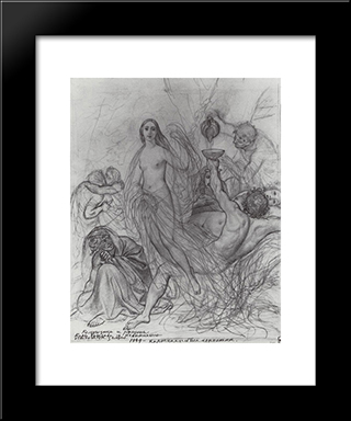 Innocence, Leaving The Earth: Modern Black Framed Art Print by Karl Bryullov