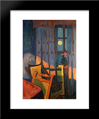 Evening In The Room: Modern Black Framed Art Print by Karl Schmidt Rottluff