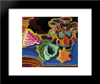 Sea Snails: Modern Black Framed Art Print by Karl Schmidt Rottluff