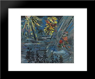 Coming Of Fall: Modern Black Framed Art Print by Karl Schrag