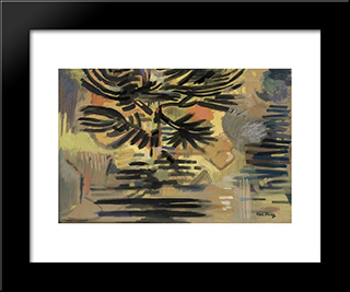 Dusk (Pond In Evening Light): Modern Black Framed Art Print by Karl Schrag