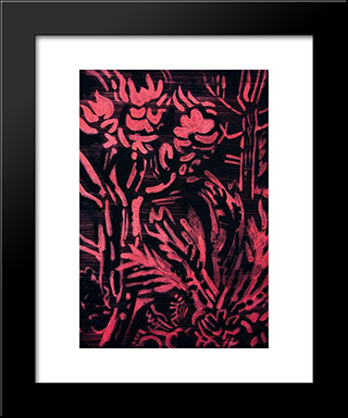 Evening Fragrance Of Gardens: Modern Black Framed Art Print by Karl Schrag