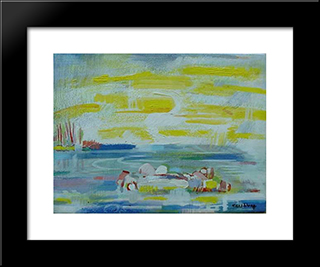 Luminous Space Low Tide: Modern Black Framed Art Print by Karl Schrag