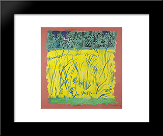 Midsummer: Modern Black Framed Art Print by Karl Schrag