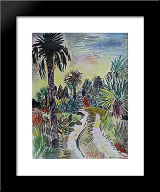 Road Into The Sanctuary Sanibel: Modern Black Framed Art Print by Karl Schrag