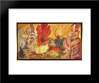 The Glade - Day: Modern Black Framed Art Print by Karl Schrag