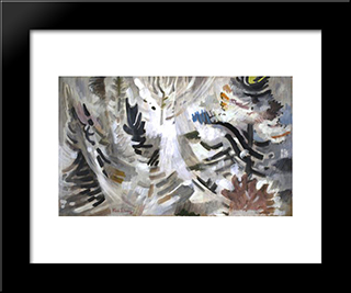 White Forest: Modern Black Framed Art Print by Karl Schrag