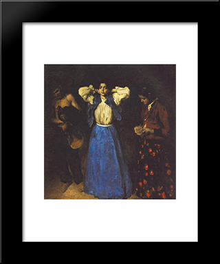 Gipsies: Modern Black Framed Art Print by Karoly Ferenczy