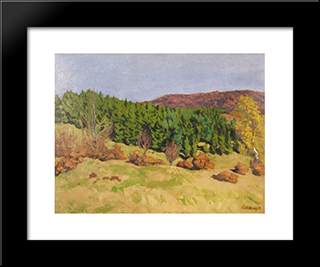 Izvora In Autumn: Modern Black Framed Art Print by Karoly Ferenczy