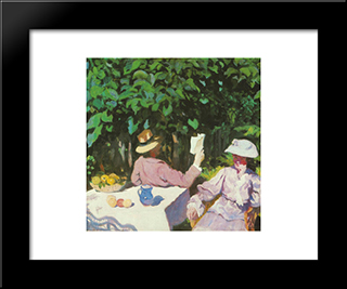 Morning Sunshine: Modern Black Framed Art Print by Karoly Ferenczy