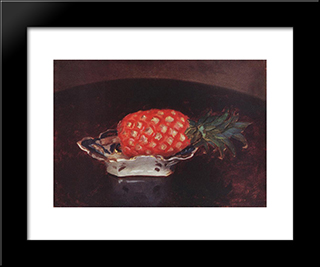Pineapple: Modern Black Framed Art Print by Karoly Ferenczy