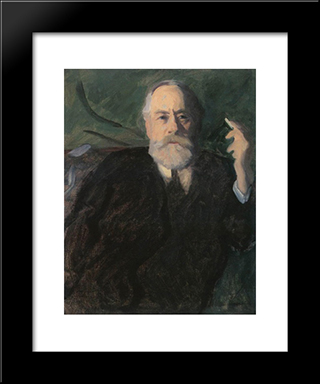 Portrait Of Pal Szinyei Merse: Modern Black Framed Art Print by Karoly Ferenczy