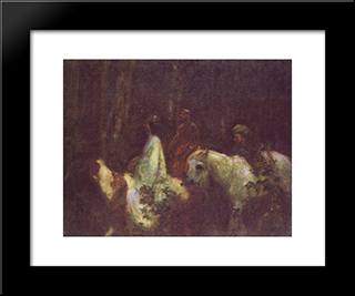 The Three Magi: Modern Black Framed Art Print by Karoly Ferenczy
