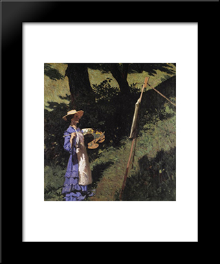 The Woman Painter: Modern Black Framed Art Print by Karoly Ferenczy