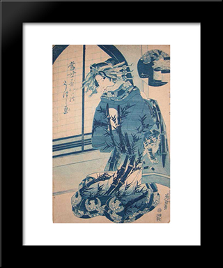 Beautiful Oiran: Modern Black Framed Art Print by Keisai Eisen