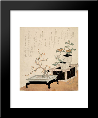 Flower Arrangements: Modern Black Framed Art Print by Keisai Eisen