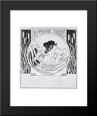 A ModernTantalus. Illustration For 'Meggendorfer Leaves'.: Modern Black Framed Art Print by Koloman Moser
