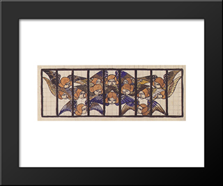 Am Steinhof Church, Design For The Rise Window: Modern Black Framed Art Print by Koloman Moser