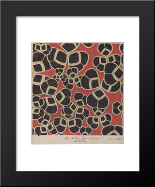 Backhausen Interior Texiles For The Bristol Hotel In Bolzano: Modern Black Framed Art Print by Koloman Moser