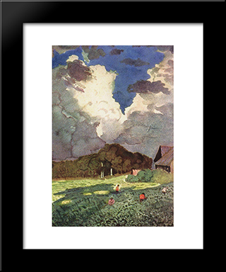 After The Storm: Modern Black Framed Art Print by Konstantin Somov