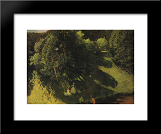 Bathings: Modern Black Framed Art Print by Konstantin Somov