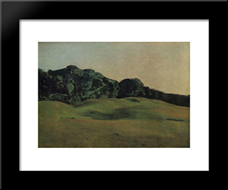 Before Sunset: Modern Black Framed Art Print by Konstantin Somov