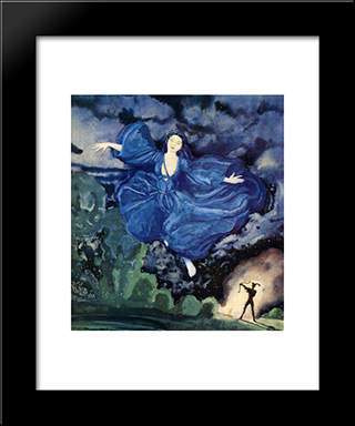 Blue Bird: Modern Black Framed Art Print by Konstantin Somov
