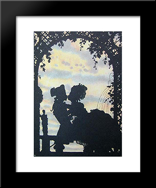 Book Of The Marquise. Illustration: Modern Black Framed Art Print by Konstantin Somov