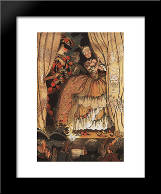 Book Of The Marquise. Illustration 1: Modern Black Framed Art Print by Konstantin Somov