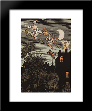 Book Of The Marquise. Illustration 7: Modern Black Framed Art Print by Konstantin Somov