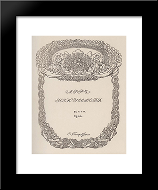 Cover Of The Magazine 'World Of Art': Modern Black Framed Art Print by Konstantin Somov