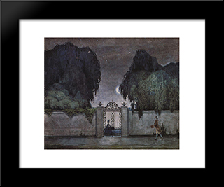 Date Night: Modern Black Framed Art Print by Konstantin Somov