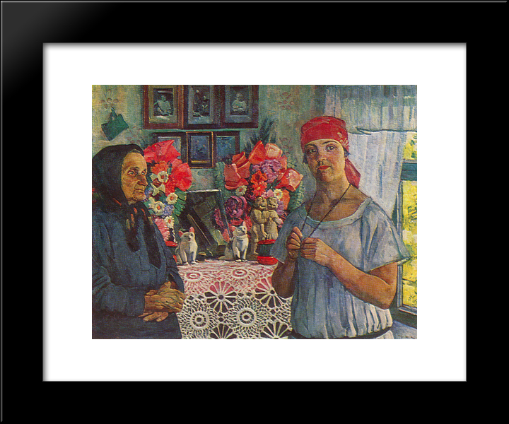 Disappearing Province: Modern Black Framed Art Print by Konstantin Yuon