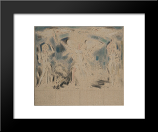 Allegorical Scene: Modern Black Framed Art Print by Konstantinos Parthenis