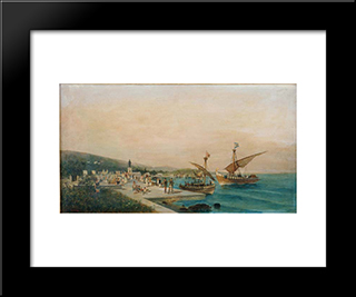 Return Of The Argonauts: Modern Black Framed Art Print by Konstantinos Volanakis