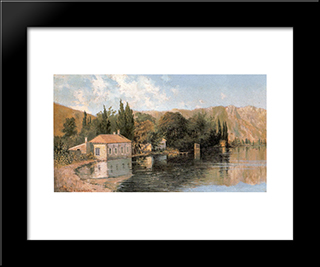 Seashore Of Poros: Modern Black Framed Art Print by Konstantinos Volanakis