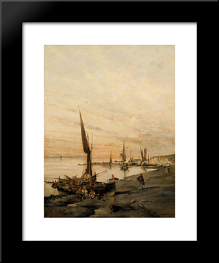 Sunset Over The Bay: Modern Black Framed Art Print by Konstantinos Volanakis