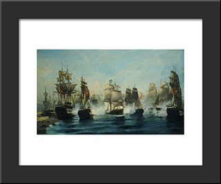 The Exodus Of Ares: Modern Black Framed Art Print by Konstantinos Volanakis