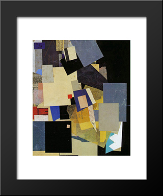 (Elikan): Modern Black Framed Art Print by Kurt Schwitters