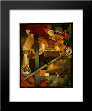 Construction For Noble Ladies: Modern Black Framed Art Print by Kurt Schwitters