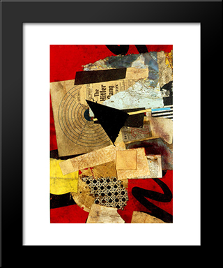 Hitler Gang: Modern Black Framed Art Print by Kurt Schwitters