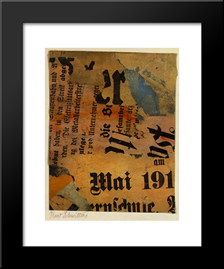 Mai 191: Modern Black Framed Art Print by Kurt Schwitters