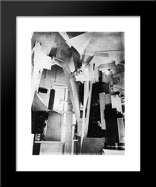 Merzbau: Modern Black Framed Art Print by Kurt Schwitters