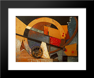 New Merzpicture: Modern Black Framed Art Print by Kurt Schwitters