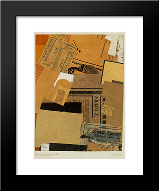 Oorlog: Modern Black Framed Art Print by Kurt Schwitters