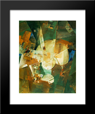 Picture With Light Center: Modern Black Framed Art Print by Kurt Schwitters